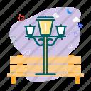 garden, lamp, night icon