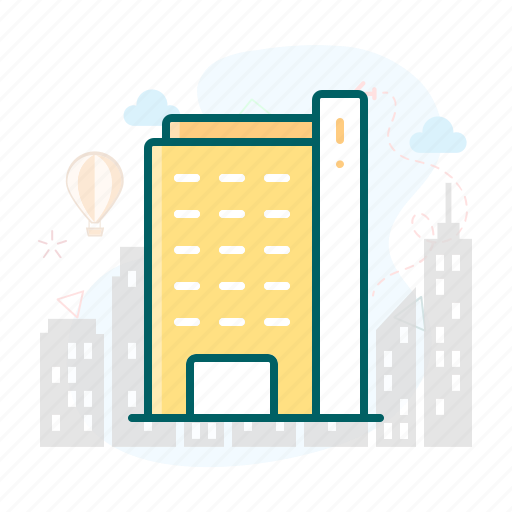 appartment, building, hotel, office icon
