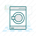 laundry, wash, washing machine icon