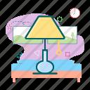 lamp, night, night lamp, room, sleep icon