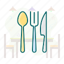 canteen, cutlery, food, restaurant, tableware icon