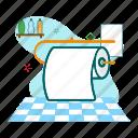 clean, hygiene, toilet tissue icon