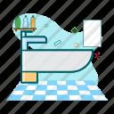 clean, faucet, interior, wastafel icon