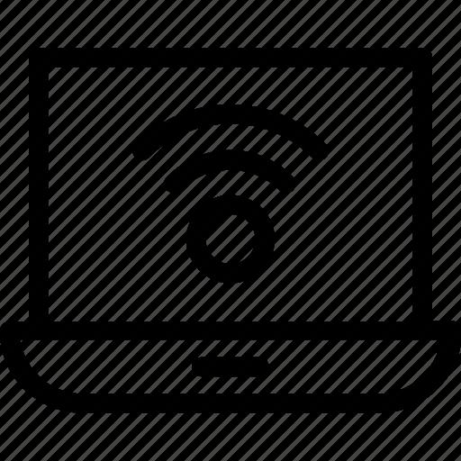 internet, laptop, signals, wifi, wireless icon
