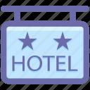 hanging board, hanging hotel signboard, hanging sign, hangning sign, hotel, hotel sign, signage icon