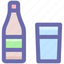 alcohol, beer bottle, bottle, bottlewine, drink, glass, wine, wine bottle icon