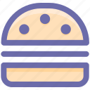 burger, cheeseburger, fast food, food, junk food, snack food, zinger burger icon