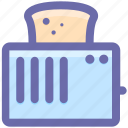 kitchen appliance, kitchen electrical, toast, toast machine, toaster icon