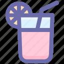 drink, glass, healthy drink, lemonade, oft drink, orange juice, summer, summer drink icon