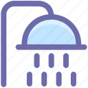 bath, bathroom, body care, shower, shower head, water drops, water srops icon