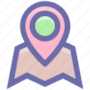 gps, gps pin, location finder, location pin, map location, map pin, map position icon