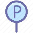 car, car parking, parking, parking sign, road, sign icon