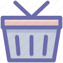 bucket, cart, shopping, shopping basket, shopping bucket, shopping cart icon