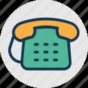 communication, numeric telephone, old telephone, retro icon