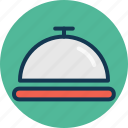 chef platter, covered food, food platter, food serving icon