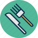 cutlery, dining, flatware, fork icon