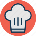 chef hat, chef toque, chef uniform, cook cap icon