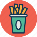 chips, fast food, french fries, fries icon