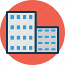 building, flats, hotel, residential icon