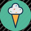 cone, cup cone, dessert, frozen food, ice icon