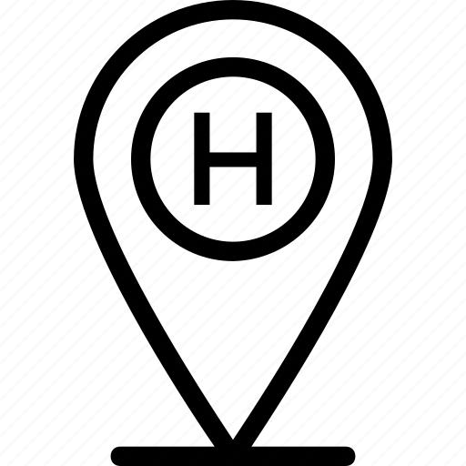 gps, hotel location, location, map, navigation icon