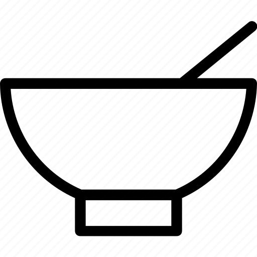 bowl, hot food, meal, soup, spoon icon