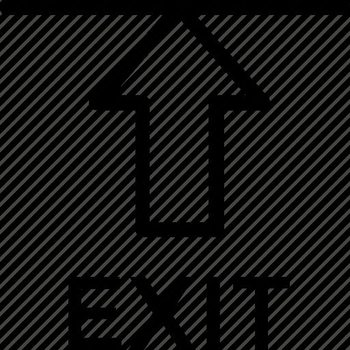 arrow, emergency, escape, exit, out icon