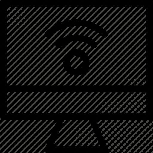 internet, monitor, signals, wifi, wireless icon