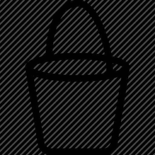 beach, bucket, gardening, pail, sand pail icon