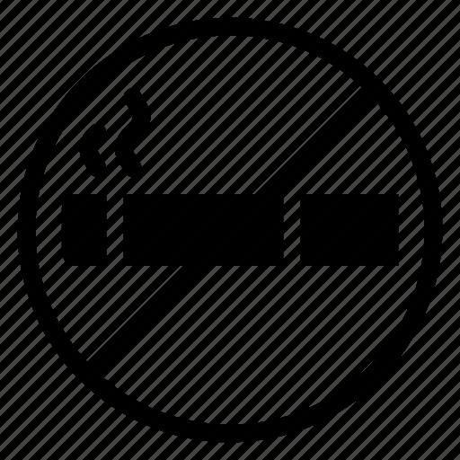 Cigarette, forbidden, prohibited, sign, smoke, smoking, stopsmoking icon - Download on Iconfinder