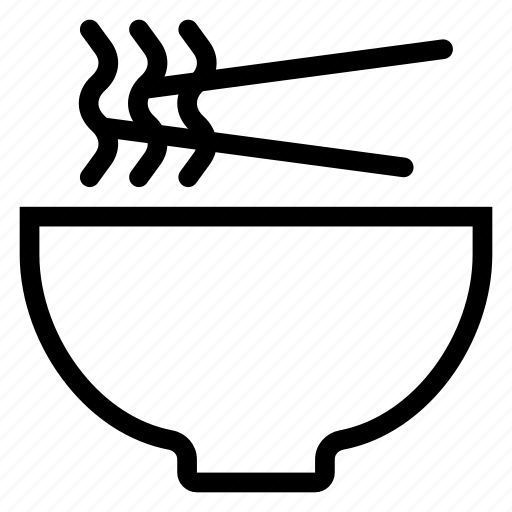 bowl, chinese, chopsticks, food, noodles, noodlesbowl, pasta icon