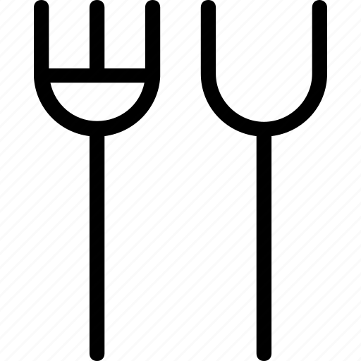 cutlery, dining, fork, kitchen, spoon icon