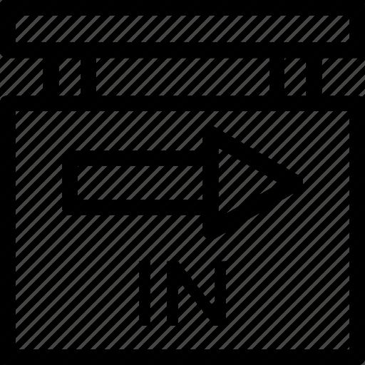 arrow, enter, entrance, in, way icon