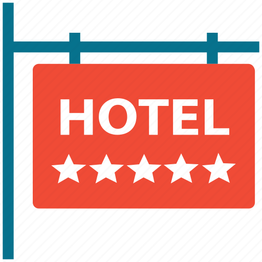 five star hotel, hotel, information, signboard icon