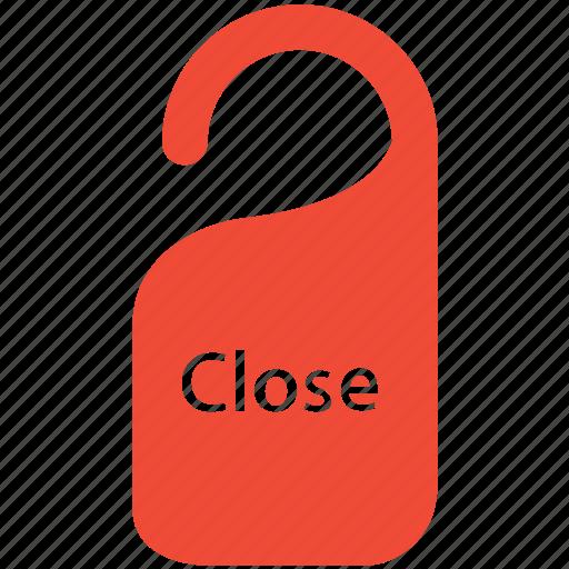 close, do not disturb, door hanger, label icon