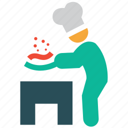 chef, cooker, cooking food, restaurant icon