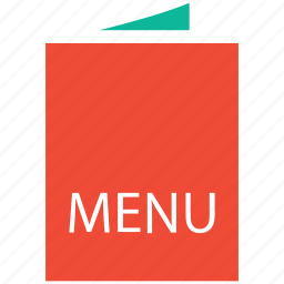 bill of fare, carte du jour, menu book, menu card icon