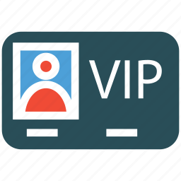 access, privileges, vip card, vip service icon