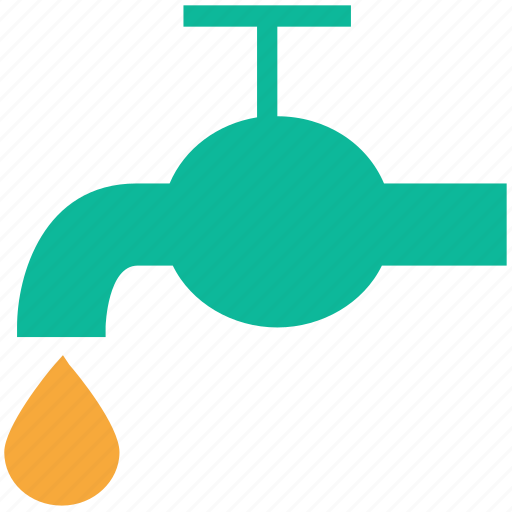 drop, tap, water, water drop icon