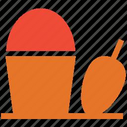 bin, dustpan, garbage, trash icon