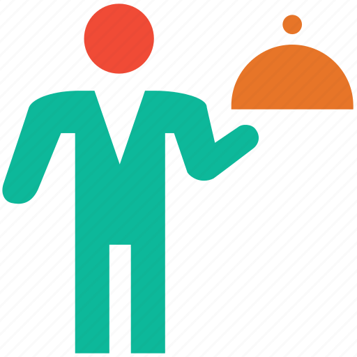 food serving, hotel service, service, waiter icon