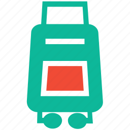 luggage, luggage suitcase, suitcase, wheel suitcase icon