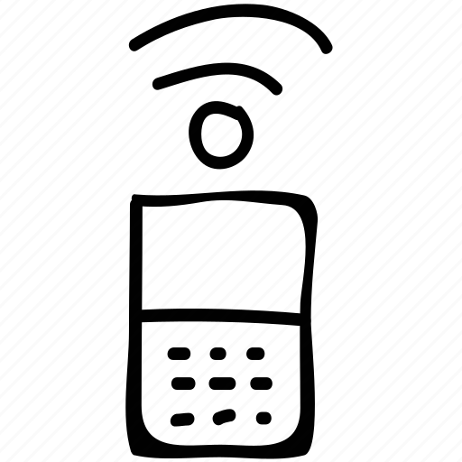 cell, mobile, phone, signals icon