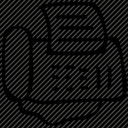 fax, machine, printer, telegram icon