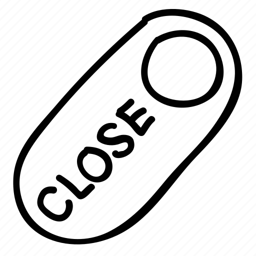 close, label, shop badge, tag icon