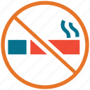 cigarette, forbidden, no smoking, smoking icon