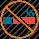smoking, cigarette, forbidden, no smoking icon