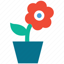 flower, flower pot, nature, plant icon