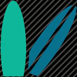 beach, surfboard, surfing, travel icon