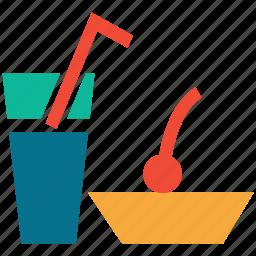 cocktail, refreshment, restaurant, service icon